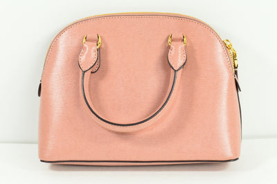 NEW Lauren Ralph Lauren Mini Dome Satchel Crossbody Bag Purse Rose Smoke Sample