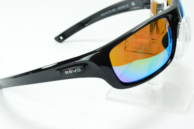 Revo Guide 2 Black Green Mirrored Polarized RE4073 03 Sunglasses Display Model
