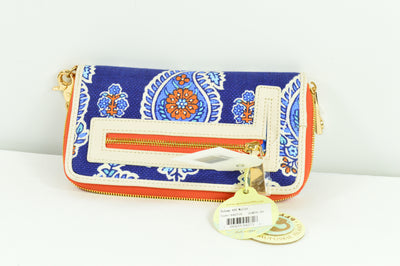 Spartina 449 Boheme Blue Island Canvas Clutch Wallet $58 Womens