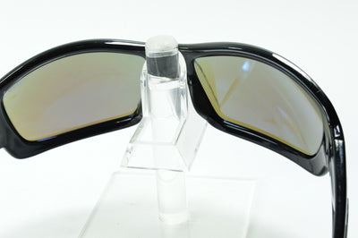Revo Straightshot Black Blue Mirrored Polarized RE1005 01 Sunglasses Display Model