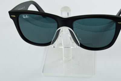 Ray-Ban Wayfarer RB2140 Matte Black Blue Gray Lens Sunglasses Large