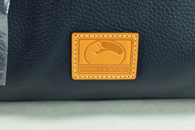 NWT Dooney & Bourke Kendra Satchel Purse Duffle Midnight Blue 13x8x8