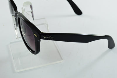 Ray-Ban Wayfarer RB2140 Gloss Black Pink Polarized Lens Sunglasses