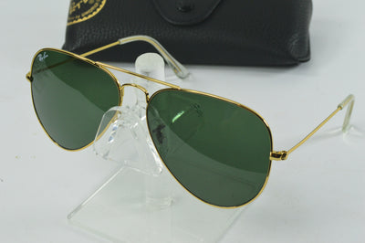 Ray-Ban Aviator Sunglasses Gold Green G-15 RB3025 L0205 58mm