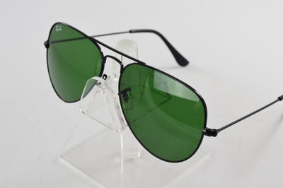 Ray-Ban Aviator Black Green G-15 Lens RB3025 58/14mm