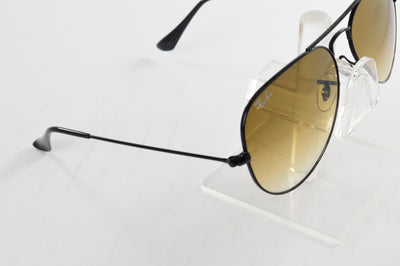 Ray-Ban Aviator Black Brown Gradient Lens RB3025 002/62 58/14mm