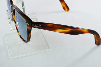 Ray-Ban Wayfarer RB2140 Tortoise Silver Flash Lens Sunglasses Large
