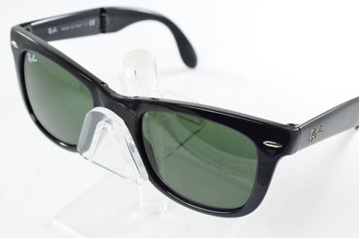 Ray-Ban Folding Wayfarer RB4105 Gloss Black Green Lens Sunglasses