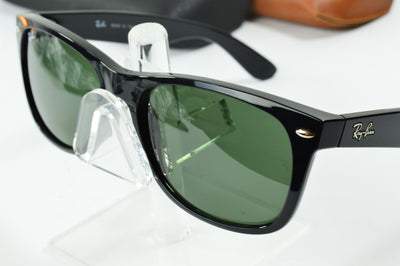 RayBan New Wayfarer Black Green Classic RB2132 901 Display Model