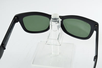 Ray-Ban Folding Wayfarer RB4105 Matte Black Green Lens Sunglasses