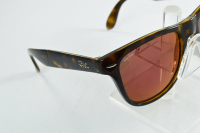 Ray-Ban Folding Wayfarer RB4105 Tortoise Red Mirror Lens Sunglasses Large