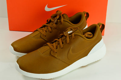 NIB Nike Roshe G Premium Golf Shoes Ale Brown Leather Size 9