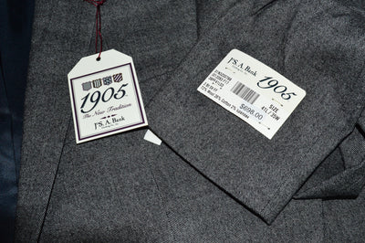NWT Jos A Bank 1905 Slim Fit Stretch Gray Speckled Wool Blend Suit 41L 35W