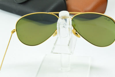 RayBan Aviator Gold Blue Flash RB3025 112/17 Display Model