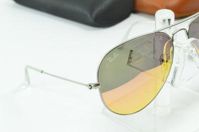 RayBan Aviator Silver Copper Flash RB3025 019/Z2 Display Model