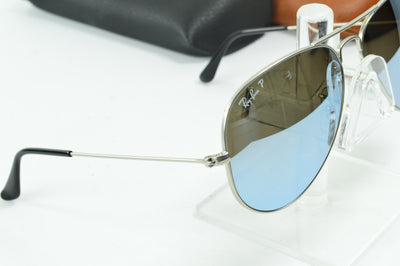 RayBan Aviator Silver Mirror Polarized RB3025 019/W3 Display Model