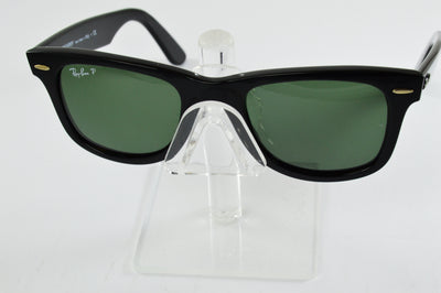 Ray-Ban Wayfarer RB2140 Gloss Black Green Polarized Lens Sunglasses