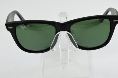 Ray-Ban Wayfarer RB2140 Matte Black Green Polarized Lens Sunglasses Large