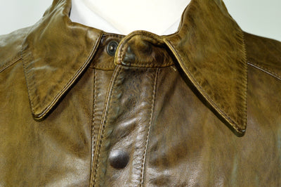 NWT Matchless HULK Army Green Distressed Leather Jacket Coat Italy 4XL (Fits 2XL)