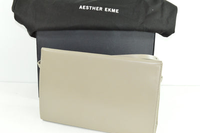 Aesther Ekme Fallen Rock Gray Leather Shoulder Bag 11x7.5x3.75 NWT