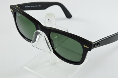 Ray-Ban Wayfarer RB2140 Matte Black Green Polarized Lens Sunglasses