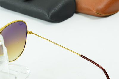 RayBan Aviator Gold Brown Gradient RB3025 001/51 Display Model