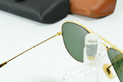 RayBan Aviator Gold Green Classic RB3025 181 Display Model