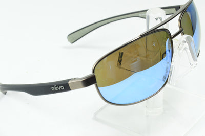 Revo Wraith Gunmetal Black Gray Polarized RE1018 00  Sunglasses Display Model