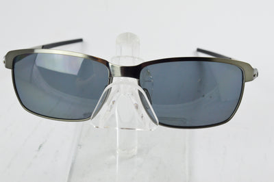 Oakley Tinfoil Brushed Chrome Grya Polarized Sunglasses OO4083-05 Display Model