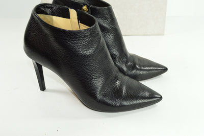Jimmy Choo Black Booties Leather EU37 US 6.5 Heels boots