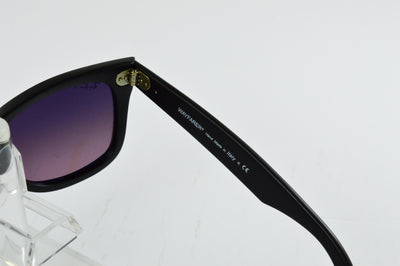 Ray-Ban Wayfarer RB2140 Matte Black Blue Gradient Pink Polarized Lens Sunglasses