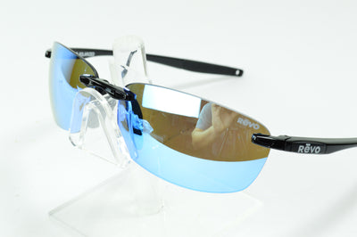 Revo Descend E Black Blue Water Polarized RE4060 01  Sunglasses Display Model