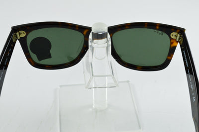 Ray-Ban Wayfarer RB2140 902 Tortoise Green G-15 Lens Sunglasses 50mm