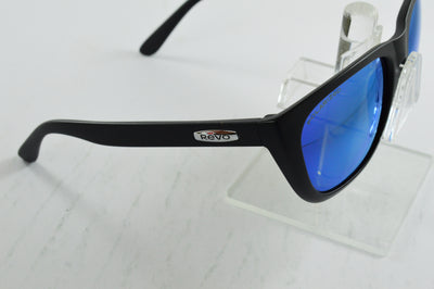 Revo Grand Sixties Matte Black Blue Polarized Sunglasses RE4052 05 Display Model
