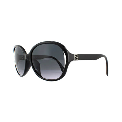 Fendi Black Gray Gradient Lens Sunglasses FFM0032/F/S D28 Round