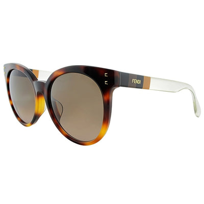 Fendi Havana Brown Tortoise Sunglasses FF0083/F/S E6Z