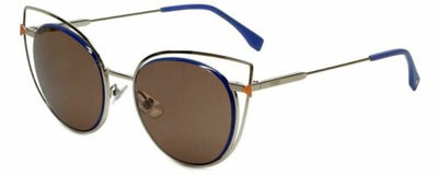 Fendi Light Gold & Blue Brown Lens Sunglasses FF0176/S 3YG