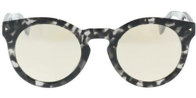 Fendi Black Havana Gray Mirrored Lens Sunglasses FF0214/S WR7