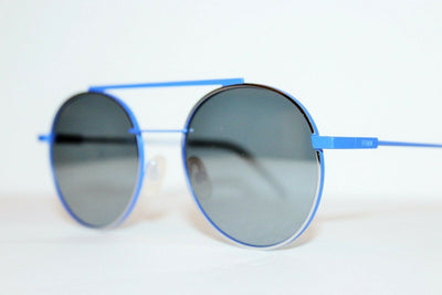 Fendi Blue Gray Gradient Lens Sunglasses FF0221/S PJP Round