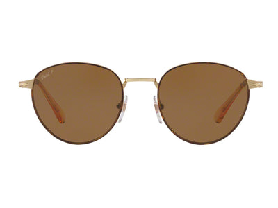 Persol Metal Capsule Sunglasses PO2445S 1075/57 Havana/Gold Brown Polarized