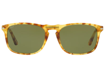 Persol PO3059S Sunglasses 1601/4E Tortoise Yellow Green 54MM