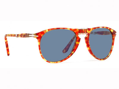 Persol Folding Sunglasses PO9714S 1060/56 Red Tortoise Blue 55M