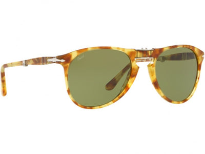Persol Folding Sunglasses PO9714S 1061/4E Yellow Tortoise Green 52MM