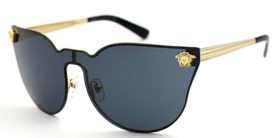 Versace VE2120 1002/87 Gold Black Lens Medusa Sunglasses 43mm