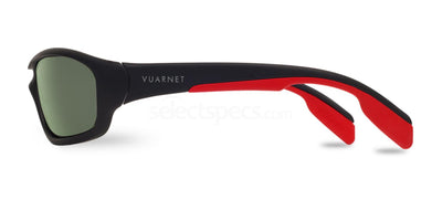 Vuarnet Racing Gray Red Polarized Sport Sunglasses VL0113 0015 1622