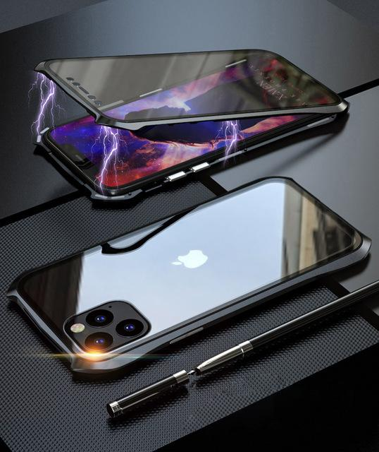 2020 Magnetic Metal Case For iPhone 360
