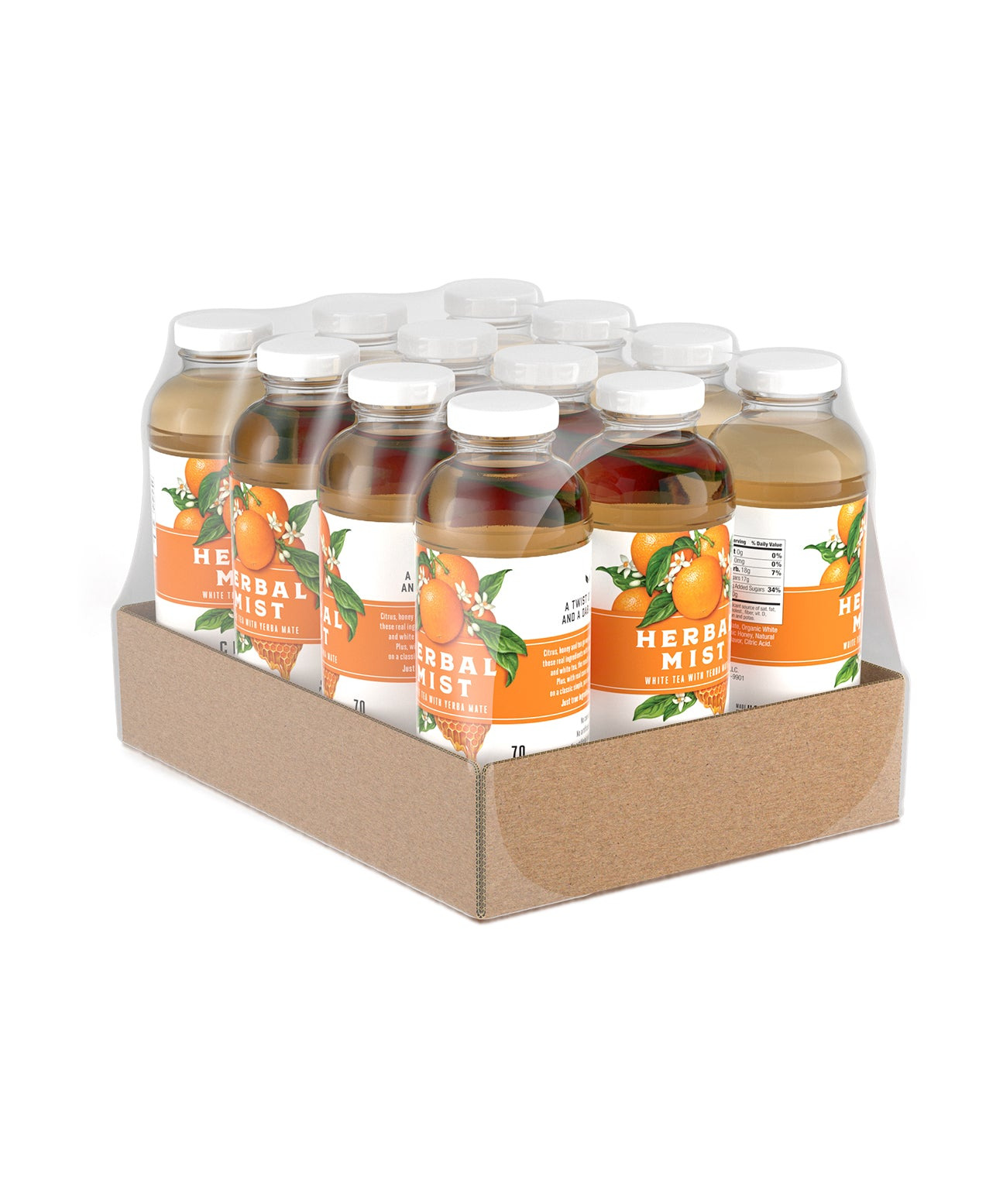 Citrus Honey White Tea & Yerba Mate (12-Pack)
