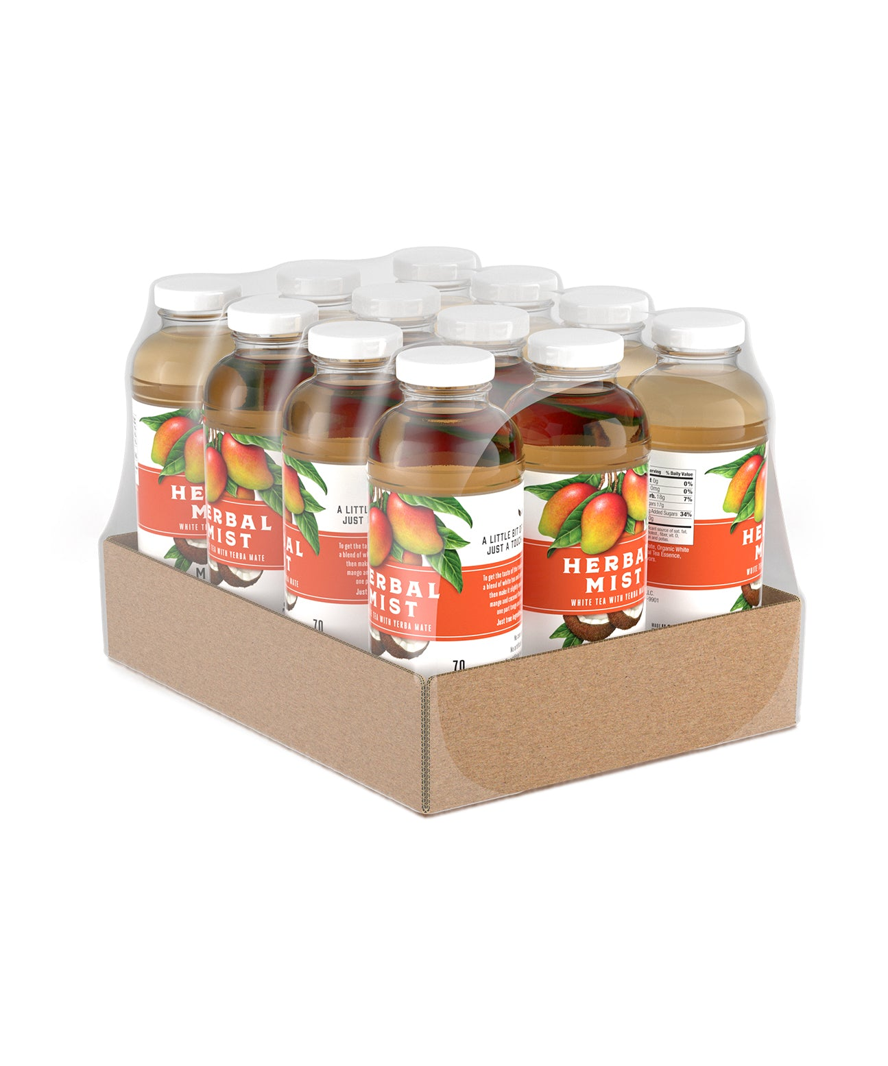 Mango Coconut White Tea & Yerba Mate (12-Pack)