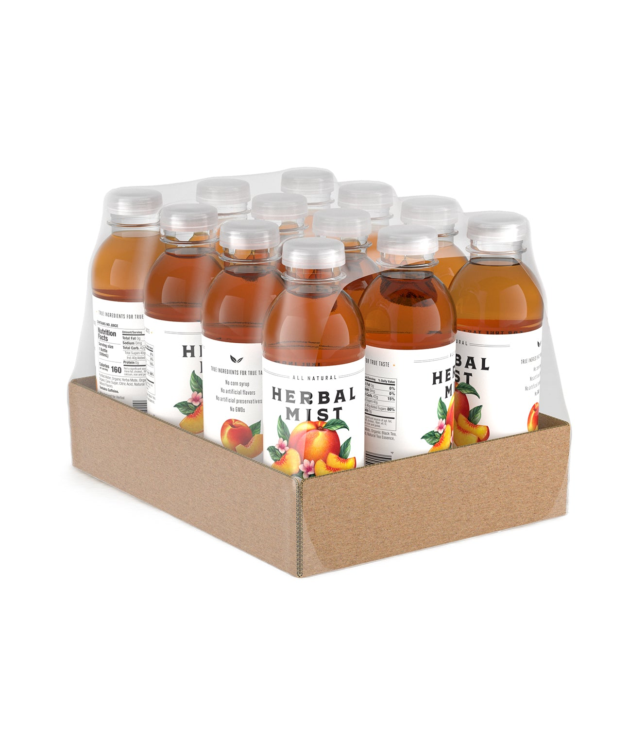 Peach Black Tea & Yerba Mate (12-Pack)
