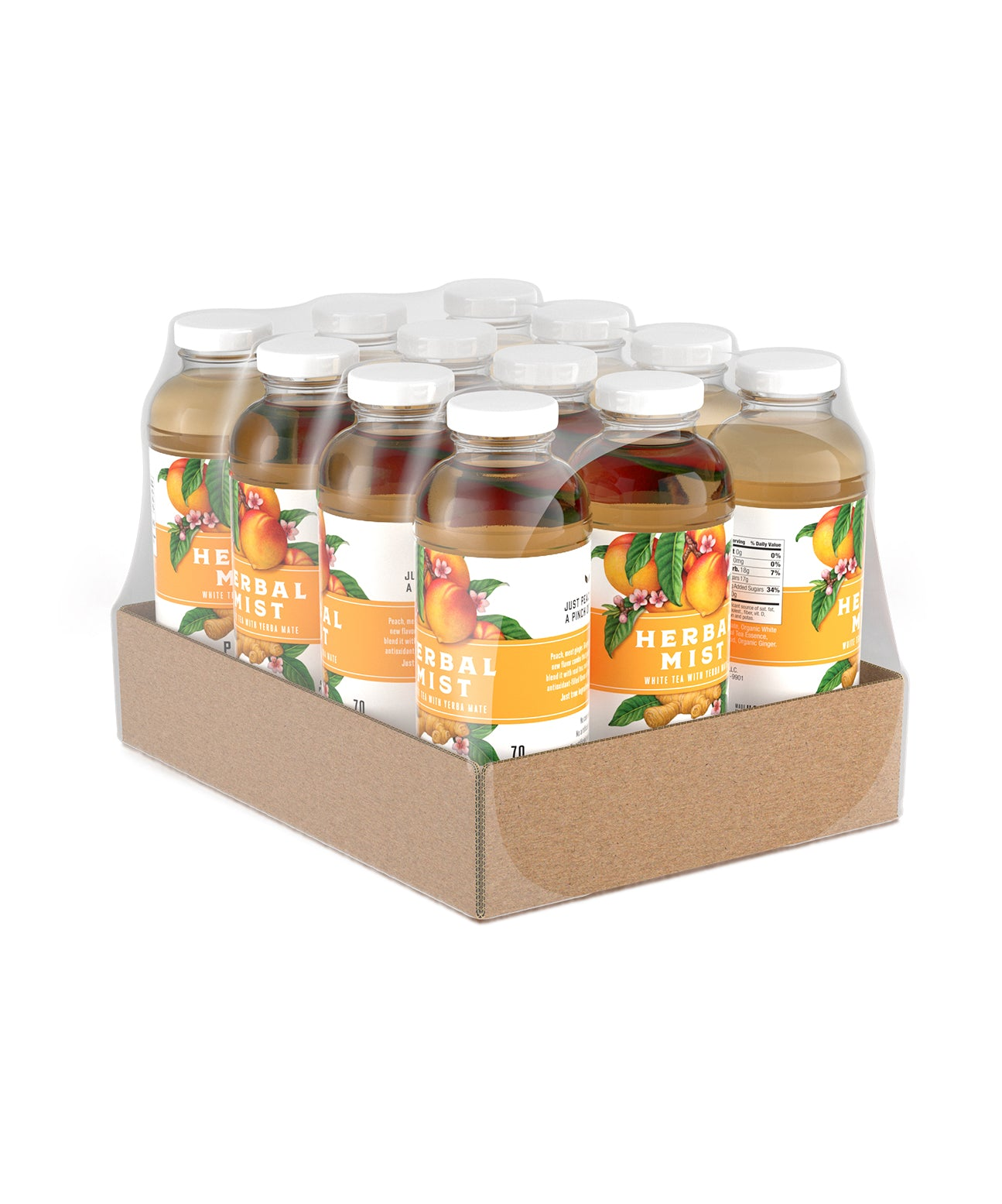 Peach Ginger White Tea & Yerba Mate (12-Pack)